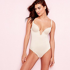 The Collection - Natural satin underwired padded firm control body