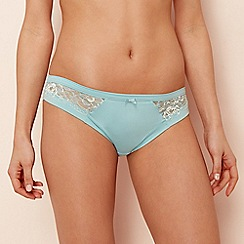 The Collection - Pale blue floral lace Brazilian knickers