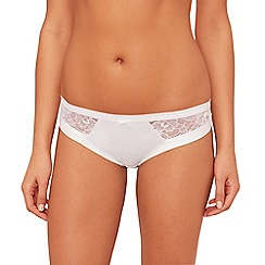 The Collection - White floral lace Brazilian knickers