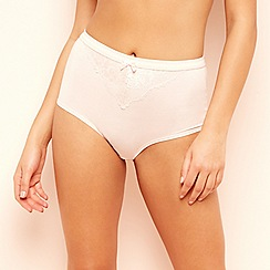 The Collection - Pink cotton blend full brief knickers