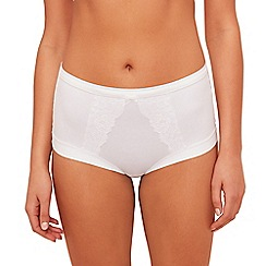 The Collection - White floral lace full brief knickers
