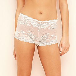 The Collection - Light pink lace satin shorts
