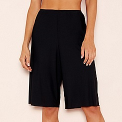 The Collection - Black light control culotte style slip