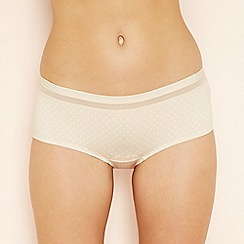 The Collection - Natural spot print seamless shorts
