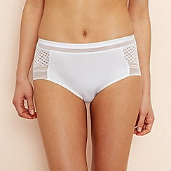 The Collection - White geo lace seamless shorts