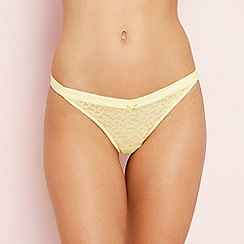 The Collection - Yellow lace thong