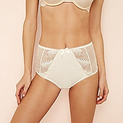 The Collection - Ivory lace microfibre 'Jessie' full brief knickers