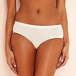 Sloggi - S by Sloggi ivory cotton blend 'Serenity' Brazilian knickers
