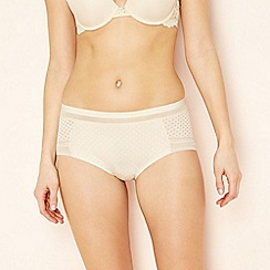 The Collection - Natural spot print geometric lace high rise seamless shorts