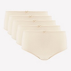 The Collection - 5 pack natural cotton blend midi briefs