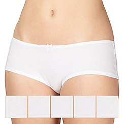 Debenhams - 5 pack cotton white shorts