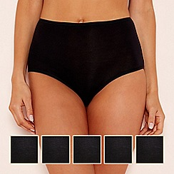 The Collection - 5 pack modal blend full brief knickers