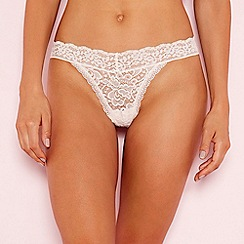 The Collection - Pale pink lace thong