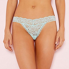 The Collection - Light green lace thong