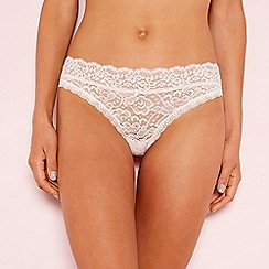 The Collection - Pale pink floral lace bikini knickers
