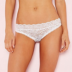 The Collection - White lace bikini knickers