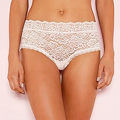 The Collection - Pale pink lace shorts