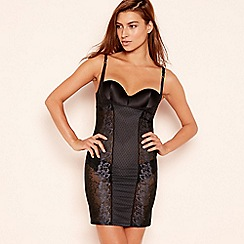 Triumph - Black floral lace shaping 'Magic Wire Lite' slip dress
