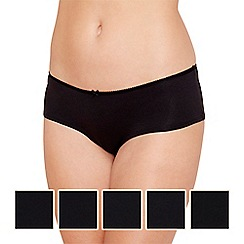 The Collection - 5 pack cotton black shorts
