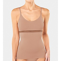 Triumph - Cream Striped Mesh 'Infinite Sensation' Shapewear Camisole