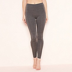 The Collection - Dark grey thermal leggings