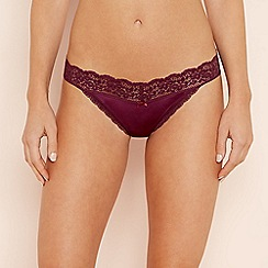The Collection - Purple floral lace thong