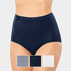 Sloggi - 3 Pack Navy 'Limited Addition' Maxi Briefs