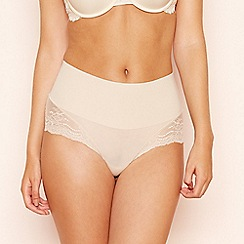 Spanx - Natural lace trim 'Undie-tectable' high waisted control knickers