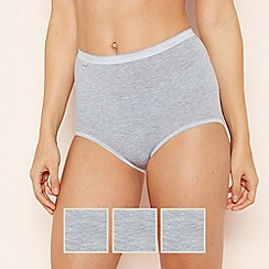 Sloggi - 3 Pack Grey High Waisted Cotton Maxi Briefs