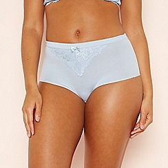 The Collection - Light Blue Lace 'Lily' Full Brief Knickers