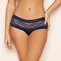 The Collection - Navy Floral Lace Seamless Shorts
