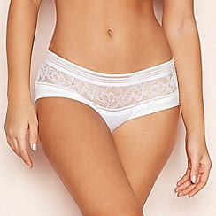 The Collection - White Floral Lace Seamless Shorts