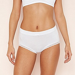 The Collection - White Lace Trim Shorts