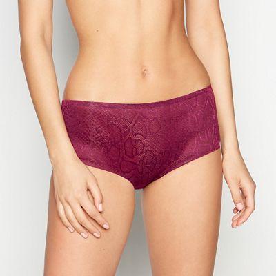 Bent over in panties