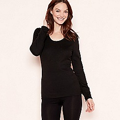 The Collection - 2 Pack black long sleeve thermal tops