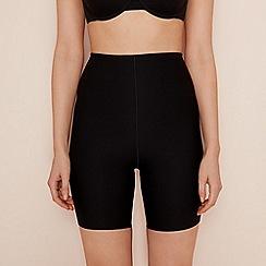 Debenhams - Black thigh length medium control shapewear shorts