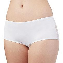 Debenhams - White lace trim shorts