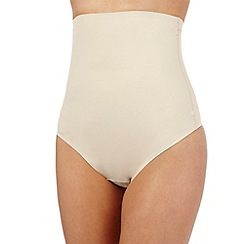 Debenhams - Nude firm control high waisted shaping thong