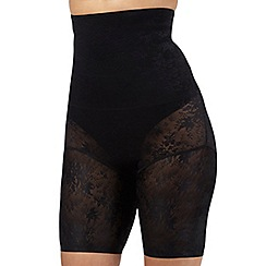 The Collection - Black high waist lace shorts