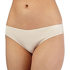 Debenhams - Natural lace trimmed invisible briefs