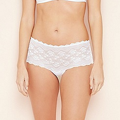 The Collection - White all over lace Brazilian briefs