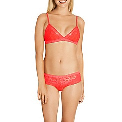 Bonds - Red 'Racy Lacies' non-wired non-padded crop top