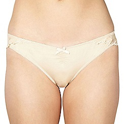 Debenhams - Beige Brazilian lace briefs