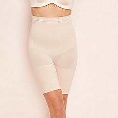 Spanx - Nude 'Power Series' high-waisted shorts