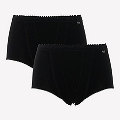 Sloggi - Pack of two black control maxi briefs