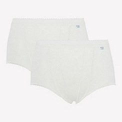 Sloggi - 2 pack white control maxi briefs