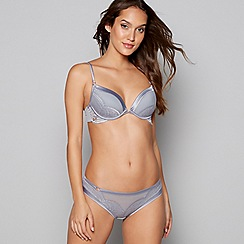 B by Ted Baker - Grey lace underwired padded plunge bra