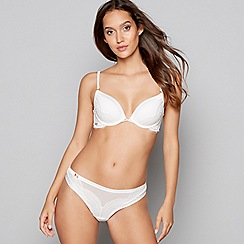 B by Ted Baker - Ivory lace satin underwired padded plunge bra