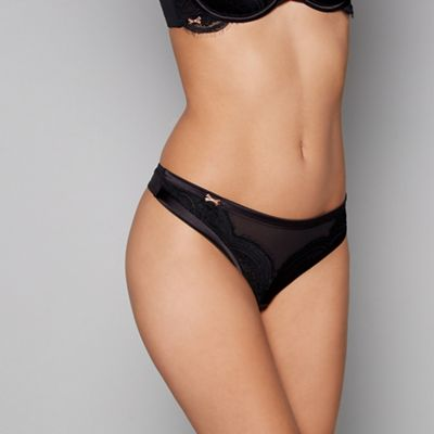 bbb7a26ae4476 B by Ted Baker Black lace satin thong