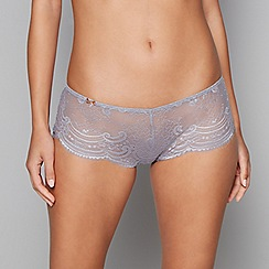 B by Ted Baker - Grey lace satin shorts